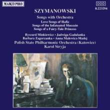 Karol Szymanowski (1882-1937): Orchesterlieder, CD