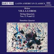 Heitor Villa-Lobos (1887-1959): Streichquartette Nr.5,9,12, CD
