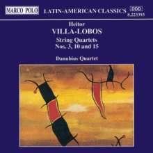 Heitor Villa-Lobos (1887-1959): Streichquartette Nr.3,10,15, CD