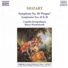 Wolfgang Amadeus Mozart (1756-1791): Symphonien Nr.29,30,38, CD