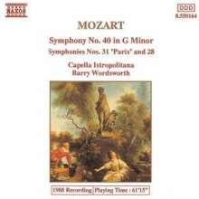 Wolfgang Amadeus Mozart (1756-1791): Symphonien Nr.28,31,40, CD