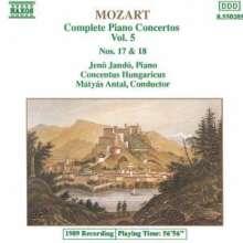 Wolfgang Amadeus Mozart (1756-1791): Klavierkonzerte Nr.17 & 18, CD