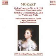 Wolfgang Amadeus Mozart (1756-1791): Violinkonzert Nr.4 D-dur KV 218, CD