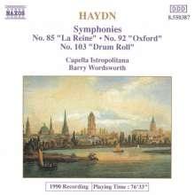 Joseph Haydn (1732-1809): Symphonien Nr.85,92,103, CD