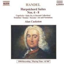 Georg Friedrich Händel (1685-1759): Cembalosuiten (1720) Nr.6-8, CD