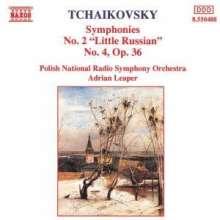 Peter Iljitsch Tschaikowsky (1840-1893): Symphonien Nr.2 & 4, CD