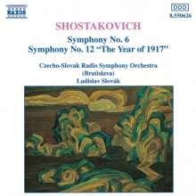 Dimitri Schostakowitsch (1906-1975): Symphonien Nr.6 & 12, CD