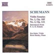 Robert Schumann (1810-1856): Sonaten für Violine & Klavier Nr.1 & 2, CD