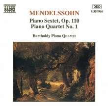 Felix Mendelssohn Bartholdy (1809-1847): Klaviersextett op.110, CD