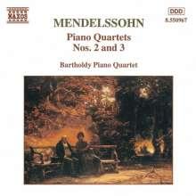 Felix Mendelssohn Bartholdy (1809-1847): Klavierquartette Nr.2 & 3, CD