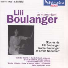 Lili Boulanger (1893-1918): Theme et Variations, CD