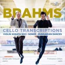 Francesco Dillon & Emanuele Torquati - Brahms: Cello Transcriptions, CD