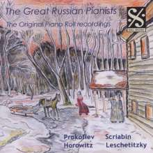 Piano Roll Recordings - The Great Russian Pianists, CD
