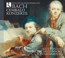 Wilhelm Friedemann Bach (1710-1784): Cembalokonzerte e-moll,Es-Dur,f-moll,a-moll, 2 CDs