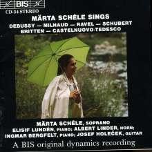Märta Schele singt Lieder, CD