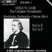 Niels W. Gade (1817-1890): Symphonien Nr.2 & 7, CD