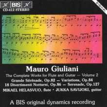 Mauro Giuliani (1781-1829): Werke für Flöte & Gitarre Vol.2, CD