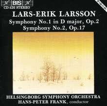 Lars-Erik Larsson (1908-1986): Symphonien Nr.1 & 2, CD