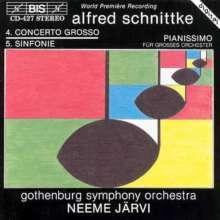 "Alfred Schnittke (1934-1998): Symphonie Nr.5 ""Concerto grosso Nr.4"", CD"