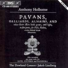 Anthony Holborne (1547-1602): Pavans,Galliards,Alemains, CD