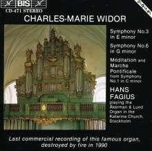 Charles-Marie Widor (1844-1937): Orgelsymphonien Nr.3 & 6, CD