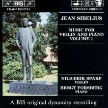 Jean Sibelius (1865-1957): Werke f.Violine & Klavier Vol.1, CD