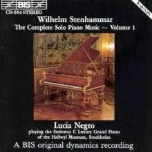 Wilhelm Stenhammar (1871-1927): Sämtliche Klavierwerke Vol.1, CD