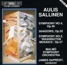Aulis Sallinen (geb. 1935): Symphonien Nr.4 & 5, CD