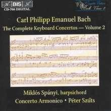 Carl Philipp Emanuel Bach (1714-1788): Sämtliche Cembalokonzerte Vol.2, CD