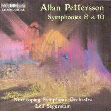 Allan Pettersson (1911-1980): Symphonien Nr.8 & 10, CD