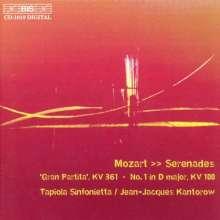 """Wolfgang Amadeus Mozart (1756-1791): Serenaden Nr.1 & 10 (KV 100 & KV 361 """"Gran Partita""""), CD"""