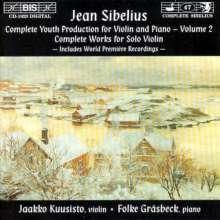 Jean Sibelius (1865-1957): Jugendwerke für Violine & Klavier Vol.2, CD