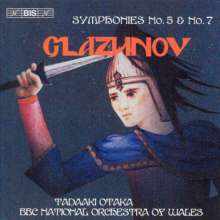 Alexander Glasunow (1865-1936): Symphonien Nr.5 & 7, CD