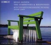 Hugo Alfven (1872-1960): Symphonien Nr.1-5, 4 CDs