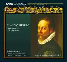 Claudio Merulo (1533-1604): Das Gesamtwerk für Orgel II (Toccaten,Ricercari,Canzoni), 2 CDs