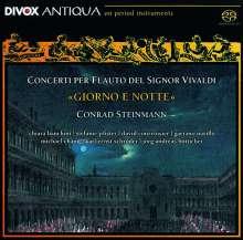 """Antonio Vivaldi (1678-1741): Flötenkonzerte RV 108,428,437,439,443 - """"Giorno e Notte"""", SACD"""