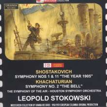 Dimitri Schostakowitsch (1906-1975): Symphonien Nr.1 & 11, 2 CDs