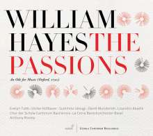William Hayes (1708-1777): The Passions (An Ode for Music,Oxford 1750), CD