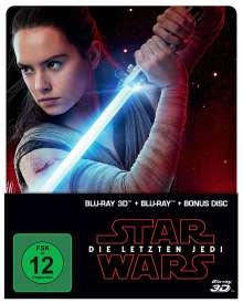 Star Wars 8: Die letzten Jedi (3D & 2D Blu-ray im Steelbook), 3 Blu-ray Discs