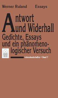 Lebenslandschaften / Antwort und Widerhall - Werner Ruland (Buch) – jpc