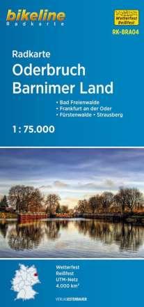 Bikeline Radkarte Deutschland Oderbruch Barnimer Land 1 : 75 000, Diverse