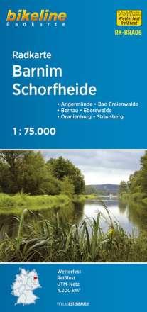 Bikeline Radkarte Deutschland Barnim, Schorfheide 1 : 75 000, Diverse