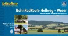 Bikeline BahnRadRoute Hellweg-Weser 1 : 50 000, Buch