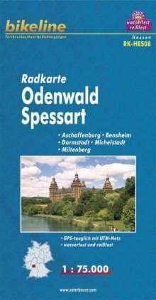 Bikeline Radkarte Deutschland Odenwald, Spessart 1 : 75 000, Diverse