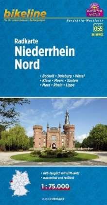 Bikeline Radkarte Niederrhein Nord 1 : 75 000, Diverse