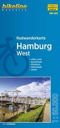 Bikeline Radwanderkarte Hamburg West 1 : 60 000, Diverse