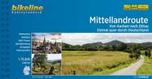 Bikeline Radtourenbuch Mittellandroute, Buch