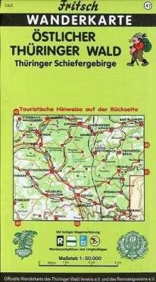 Östlicher Thüringer Wald / Thüringer Schiefergebirge. Fritsch Wanderkarte, Diverse