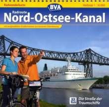 Radweg Nord-Ostsee-Kanal. Radwanderkarte 1 : 50 000, Diverse