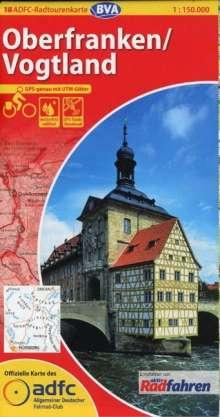 ADFC-Radtourenkarte 18 Oberfranken / Vogtland 1 : 150.000, Diverse